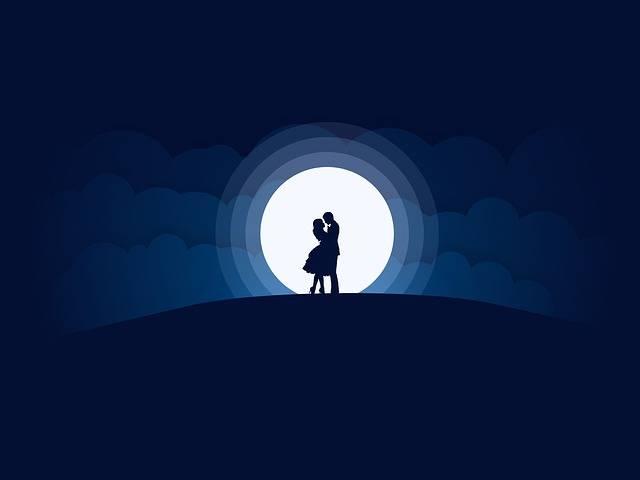 Couples Moon Love - Free image on Pixabay (536264)