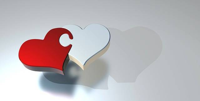 Puzzle Heart Love Two - Free image on Pixabay (537485)