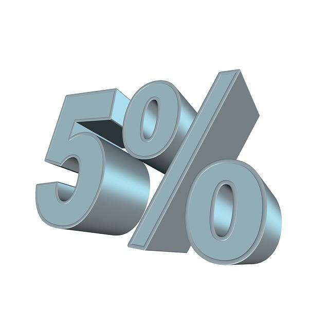 Percent Five 3D Partial - Free image on Pixabay (541790)