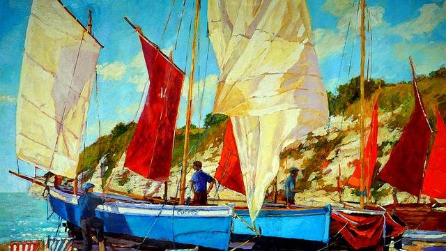 Oil Painting Boat - Free image on Pixabay (543493)