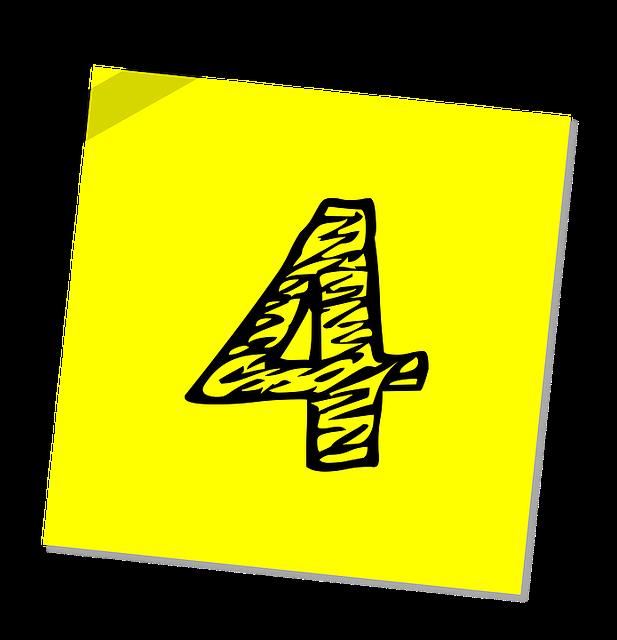 Four 4 Number - Free image on Pixabay (558953)
