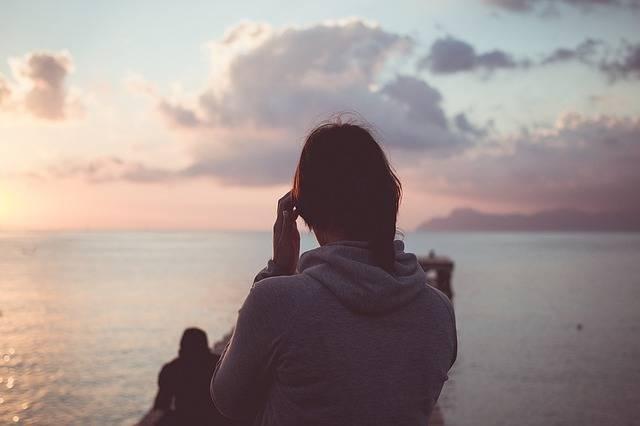 Woman Sunset Sea - Free photo on Pixabay (560330)