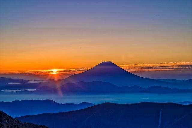 Mt Fuji Sunrise Morning Haze The - Free photo on Pixabay (564556)