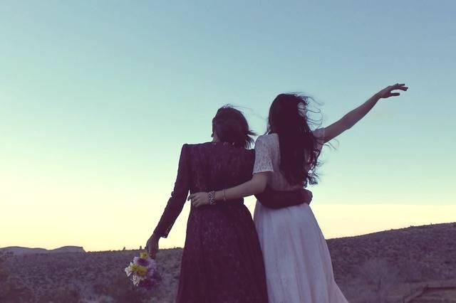 Girlfriends Sunset Vintage - Free photo on Pixabay (570143)