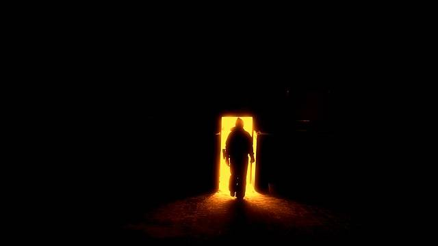 Human Silhouette The Door To Hell - Free photo on Pixabay (572128)