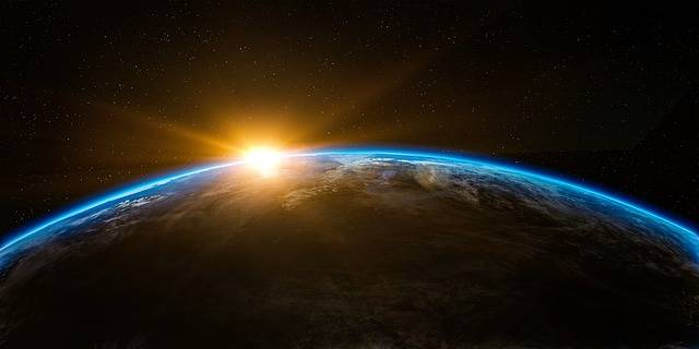 Sunrise Space Outer - Free image on Pixabay (579634)