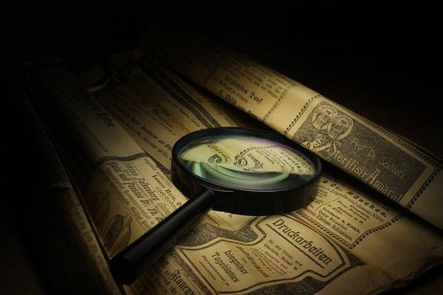 Magnifier Newspaper Old - Free photo on Pixabay (589602)