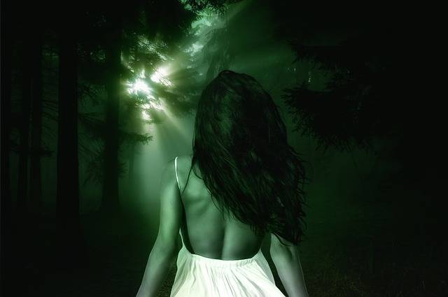 Forest Mystical Woman - Free photo on Pixabay (601332)
