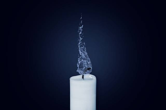 Candle Flame Water - Free photo on Pixabay (601393)