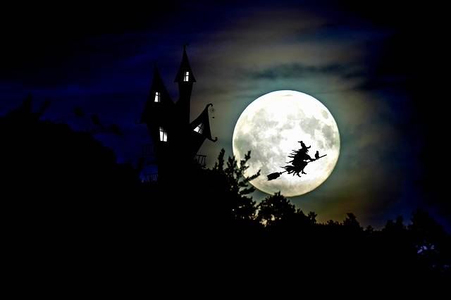 The Witch Witch'S House Full Moon - Free image on Pixabay (607093)