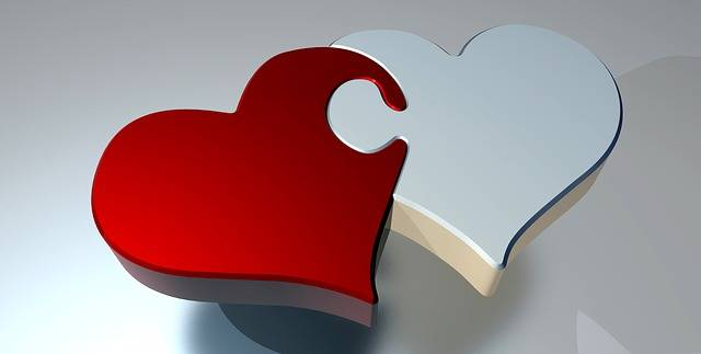 Puzzle Heart Love Two - Free image on Pixabay (608744)