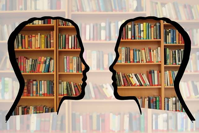 Silhouette Head Bookshelf - Free photo on Pixabay (617242)