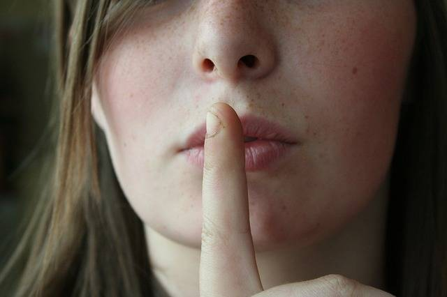 Secret Lips Woman - Free photo on Pixabay (635216)