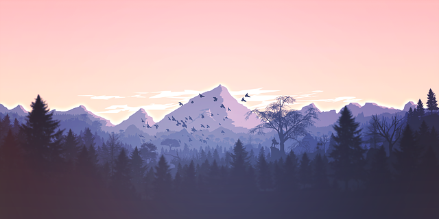 Mountains Panorama Forest - Free vector graphic on Pixabay (709001)