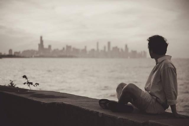 Seaside Man Sitting - Free photo on Pixabay (719294)