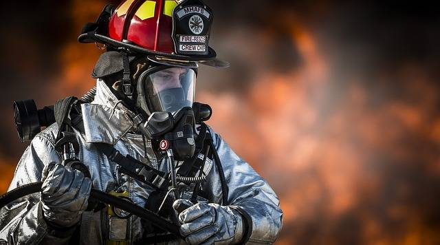 Firefighter Fire Portrait - Free photo on Pixabay (731665)