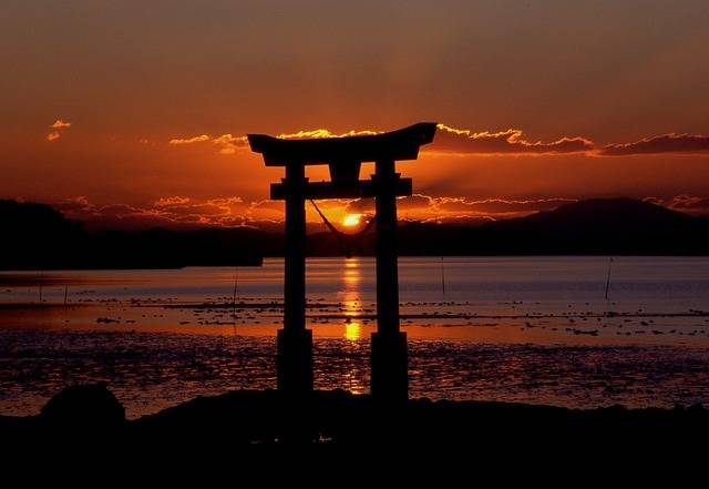 Sunset Shrine Sea - Free photo on Pixabay (736832)
