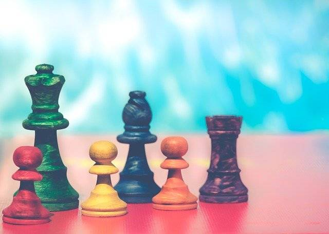 Pawns Chess Figures Colorful - Free photo on Pixabay (740876)