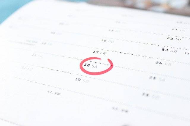 Time Calendar Saturday - Free photo on Pixabay (744984)